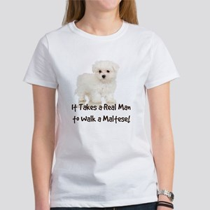 Real Men Walk Maltese T-Shirt